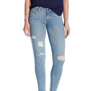 Paige Verdugo Ripped Raw Hem Ankle Skinny Jeans